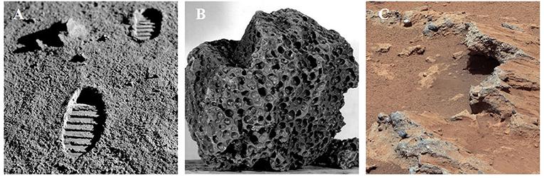 Figure 2 - Materials found in space.