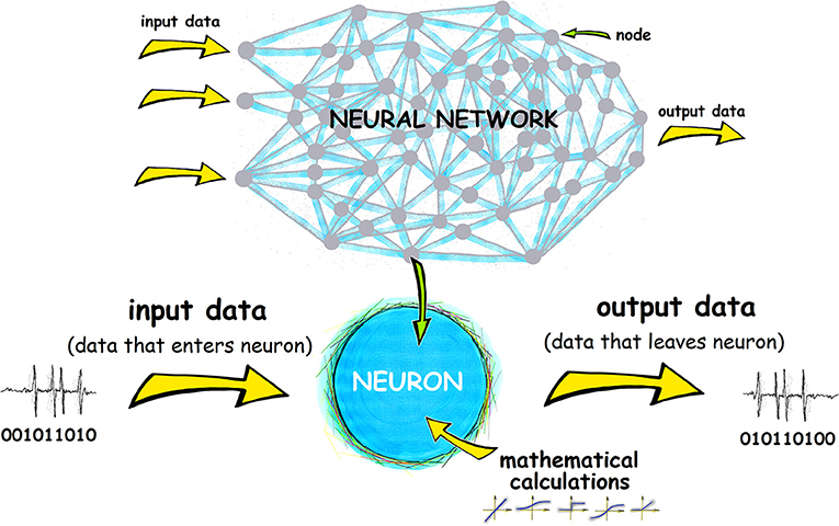 Figure 3 - An artificial neural network is made up of artificial neurons, called nodes, which perform calculations on input data and pass on the results of those calculations as output data.