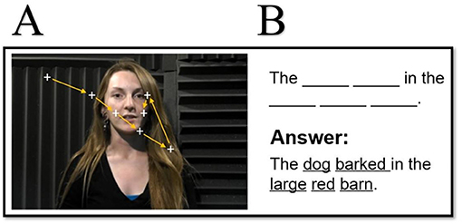 Figure 2 - (A) A sample movie clip of a woman speaking a sentence.
