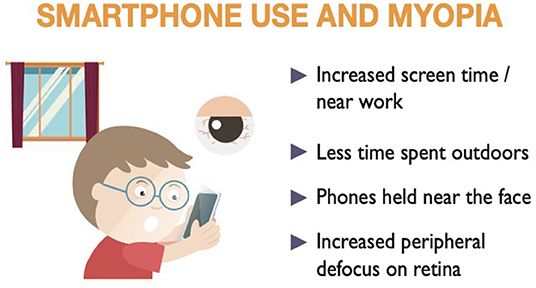 Figure 2 - How smartphone use may contribute to shortsightedness.