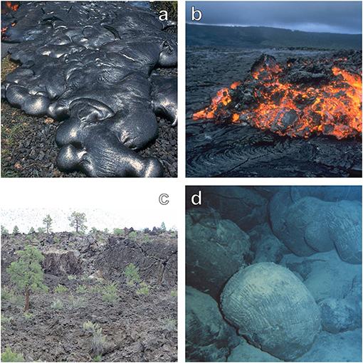 Figure 1 - Four types of lava flows.