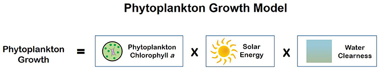 Figure 2 - Scientists use a mathematical model to predict phytoplankton growth.