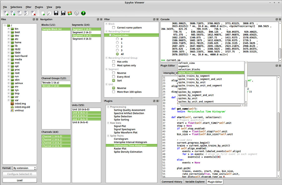 Frontiers | Spyke Viewer: a flexible and extensible platform for