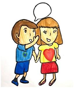 Figure 1 - Siblings sharing a secret.