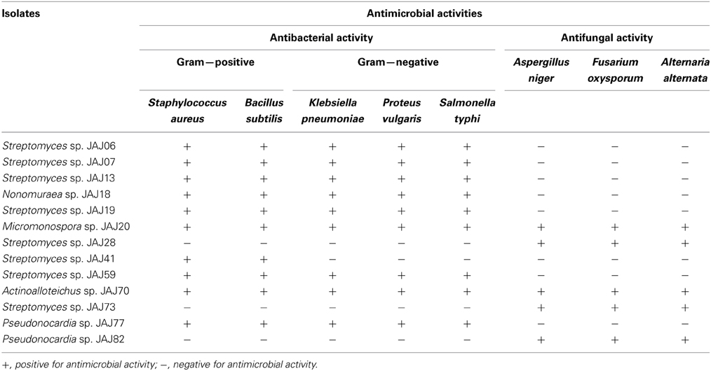 antimicrobial soil isolates Antimicrobial activities of twenty bacterial strains isolated from ten different stressed agro-ecological niches of eastern uttar pradesh, india were evaluated against bacteria, yeasts and molds eleven isolates showing strong.