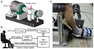 frontiers adaptive admittance control   ankle exoskeleton   emg driven