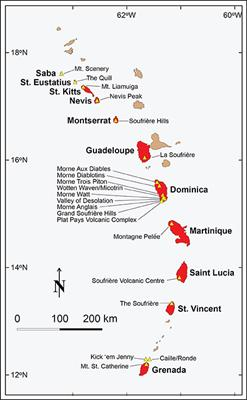 Frontiers | Integrating Volcanic Hazard Data in a Systematic ... on map of antigua, map of chaguaramas, map of republic of kiribati, map of roslindale village, map of dominica, map of aland islands, map of rota island, map of pridnestrovie, map of republic of macedonia, map of cuba, map of barbados, map of balkan area, map of current volcanic activity, map of the bahamas, map of jamaica, map of st lucia, map of mozambique company, map of sint eustatius, map of suriname, map of republic of san marino,
