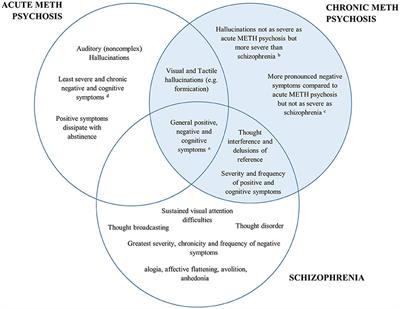 Frontiers A Comparison Of Methamphetamine Induced Psychosis And