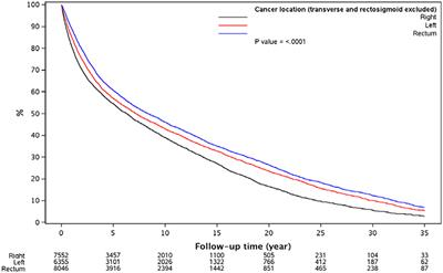 Frontiers Impact Of Tumor Location And Variables Associated With Overall Survival In Patients With Colorectal Cancer A Mayo Clinic Colon And Rectal Cancer Registry Study Oncology