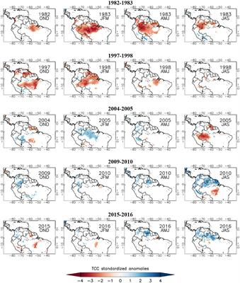 Frontiers Droughts Over Amazonia In 2005 2010 And 2015