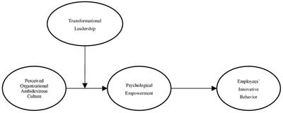 Frontiers Linking Ambidextrous Organizational Culture To Innovative Behavior A Moderated Mediation Model Of Psychological Empowerment And Transformational Leadership Psychology