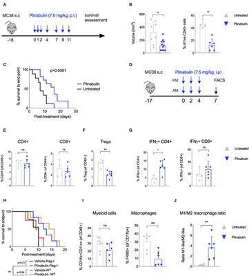 Plinabulin, a Distinct Microtubule-Targeting Chemotherapy, Promotes M1-Like Macrophage Polarization and Anti-tumor Immunity