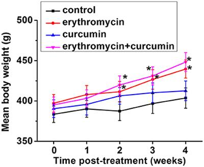 Frontiers | Combination of Erythromycin and Curcumin